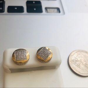 10 KT Gold Earrings  Diamonds 💎 studs